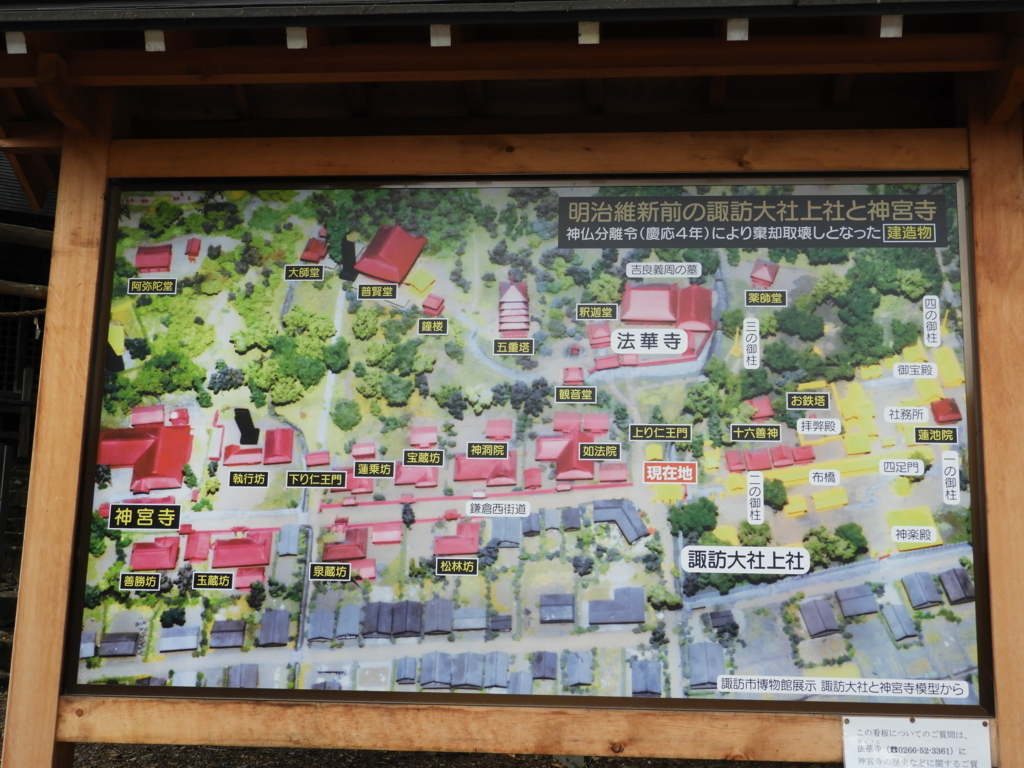 廃仏毀釈により破壊された諏訪大社上社本宮の旧神宮寺跡