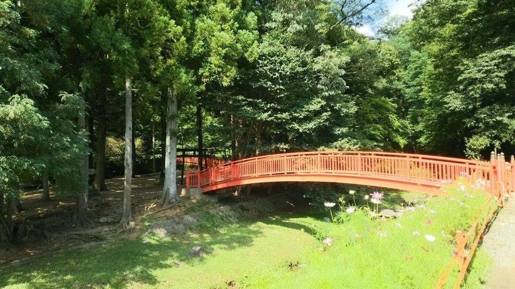 諏訪大社下社春宮沿いを流れる砥川を渡る橋