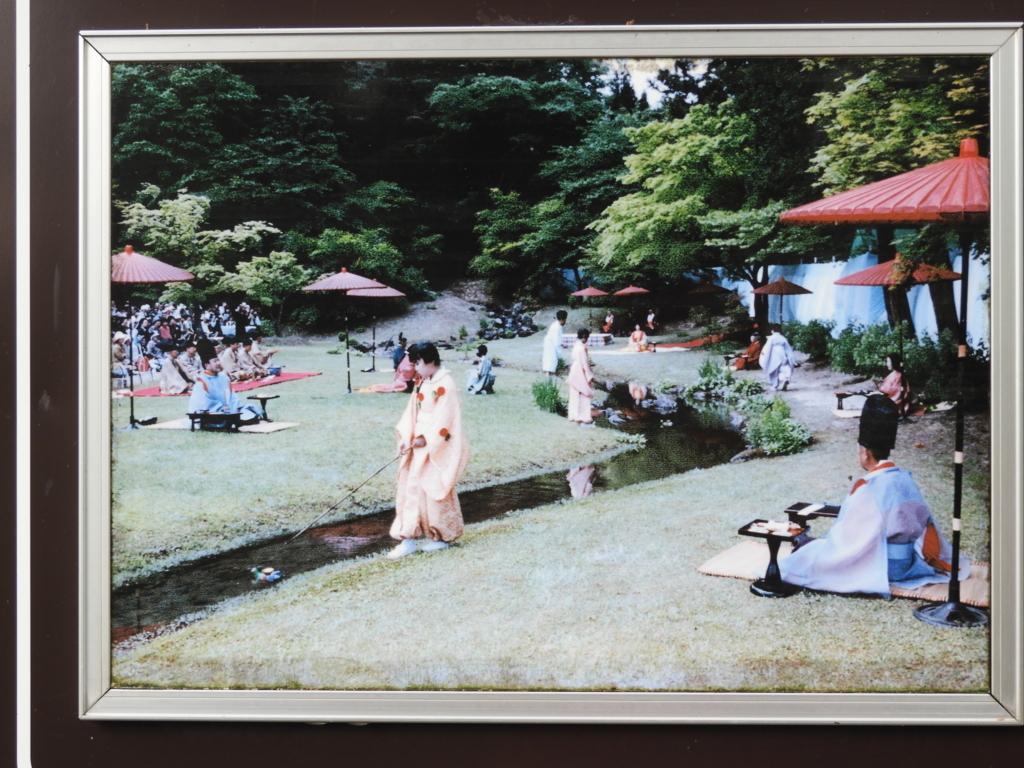 「曲水の宴」の舞台となる毛越寺の遺水