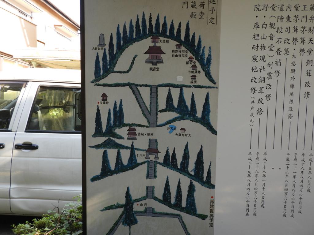 杉本寺の境内案内図