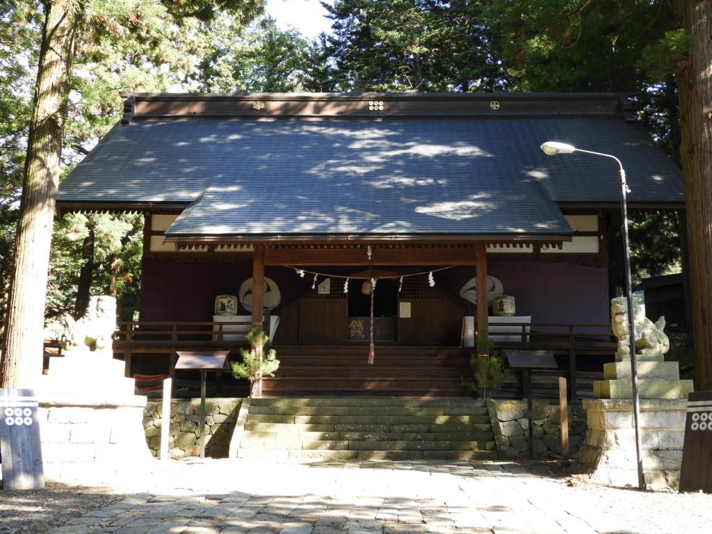 山家神社の拝殿