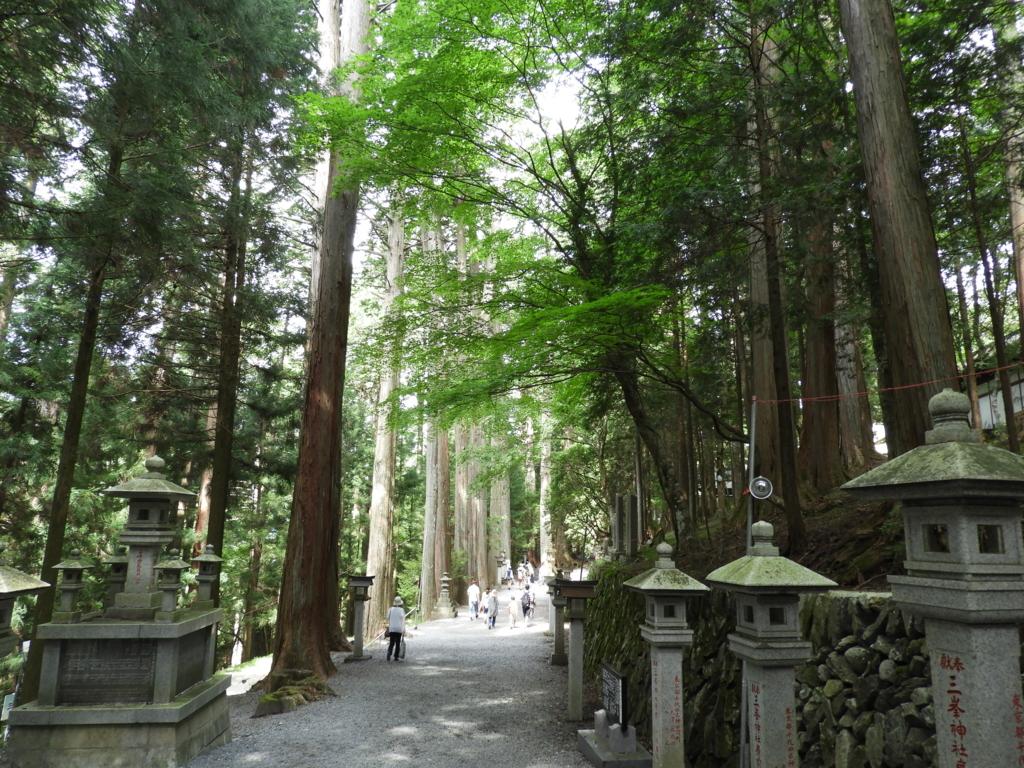 三峯神社の参道