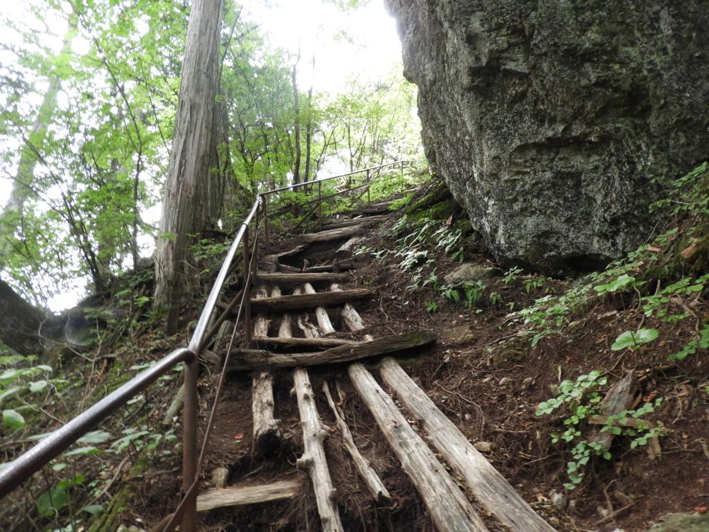 下から見上げた階段
