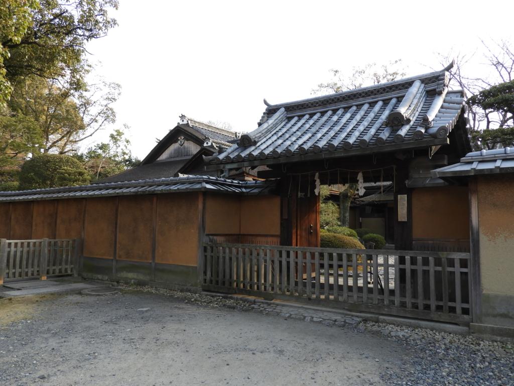 17世紀初めに建てられた重要文化財のお茶屋