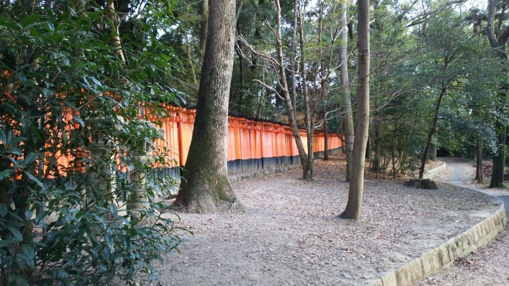伏見稲荷大社を代表する光景の千本鳥居