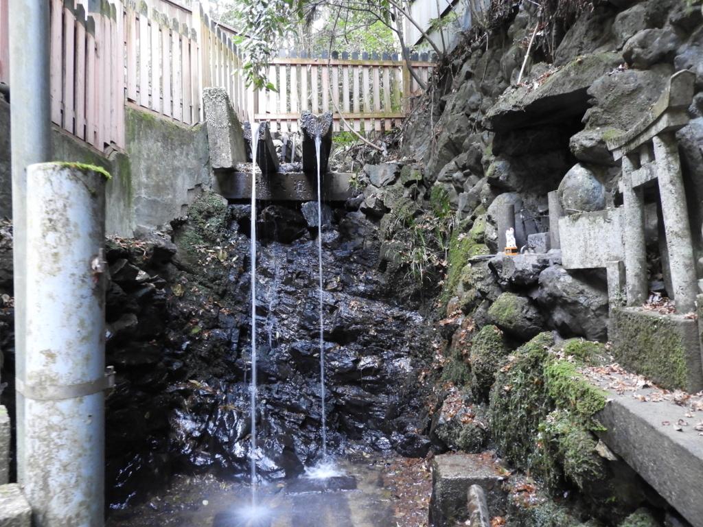 200m下りた場所にある伏見稲荷大社清滝