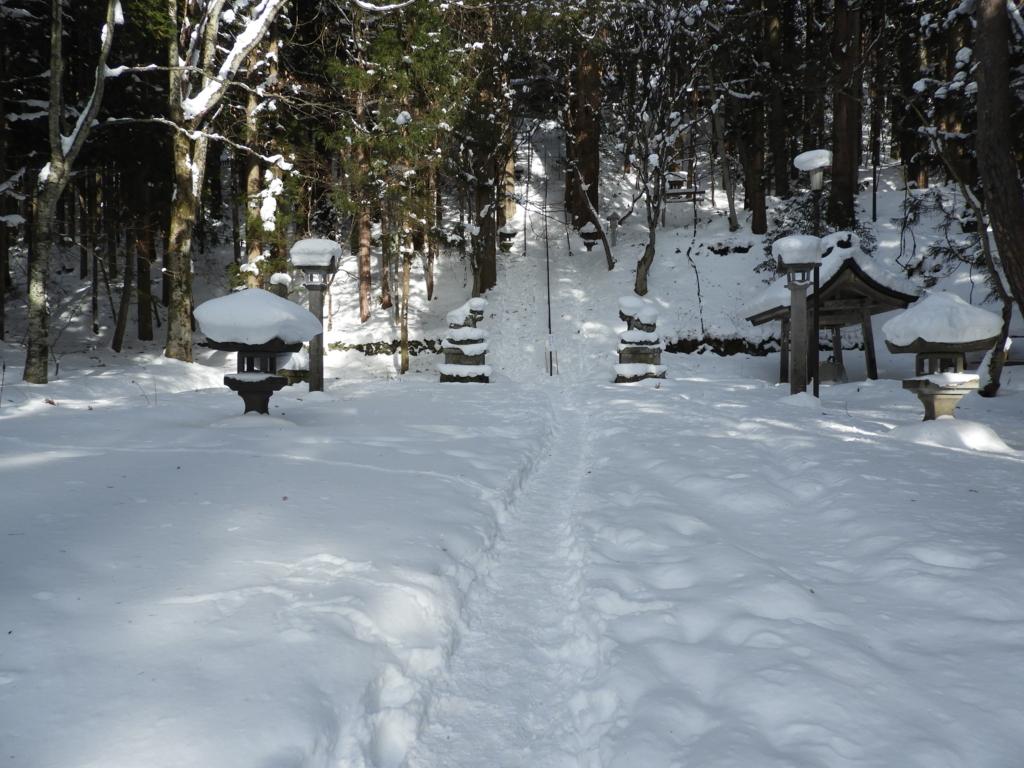 雪が深すぎる戸隠神社宝光社