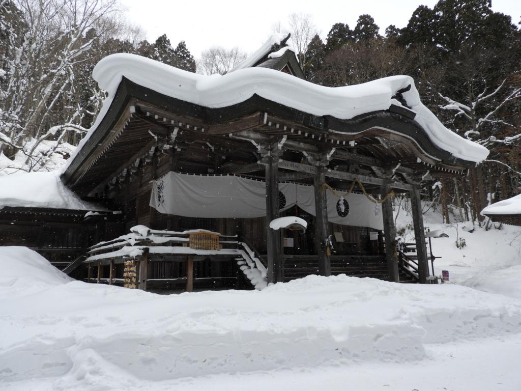 冬季でも社務所が開いている戸隠神社中社