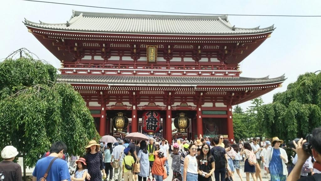 浅草寺の山門である宝蔵門
