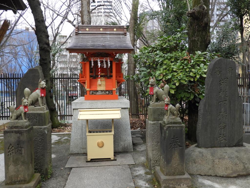 熊野神社の境内社である胡桃下稲荷神社