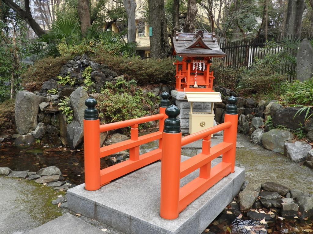 熊野神社の境内社である弁天社