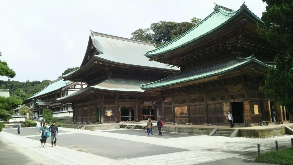 1814年の建立の重要文化財である建長寺の法堂