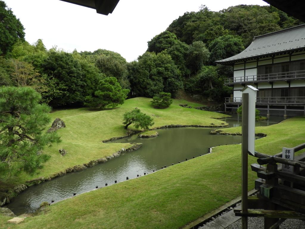 国の史跡となっている建長寺の方丈庭園