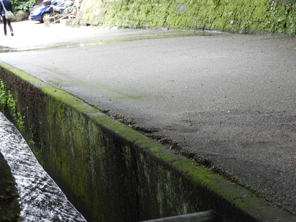 撮影でも使用された建長寺の方丈横の水路