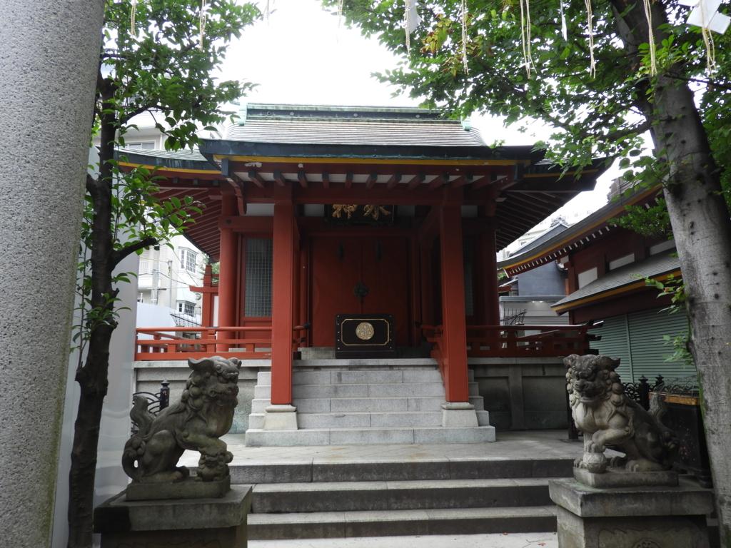 神田明神の境内社の魚河岸水神社