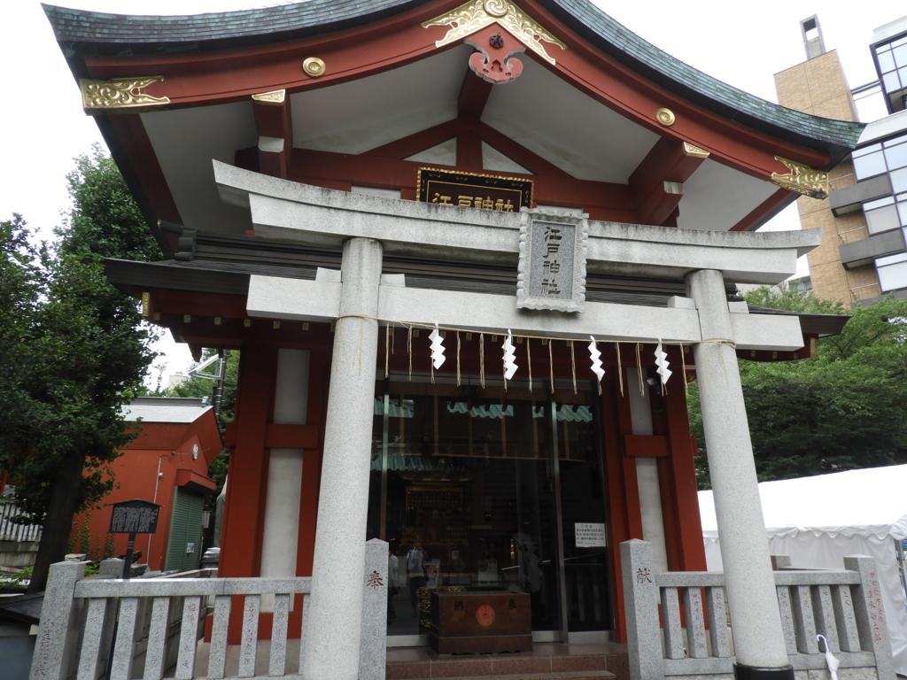 江戸最古の地主神である神田明神の境内社の江戸神社