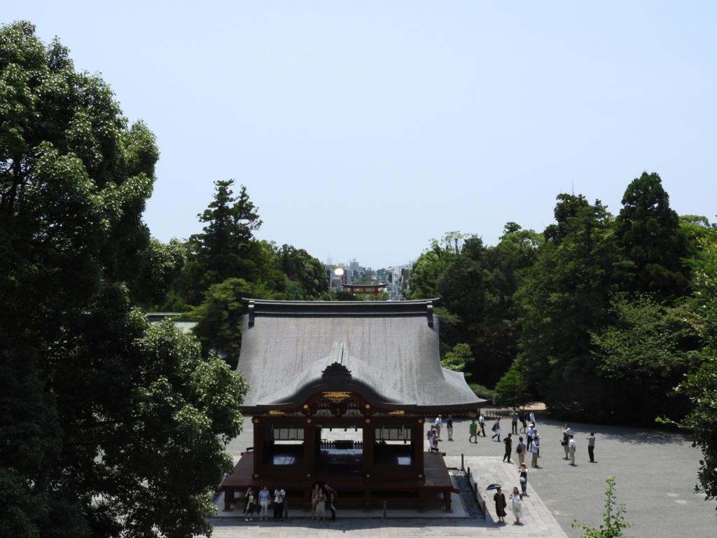 鶴岡八幡宮の大石段からの眺望