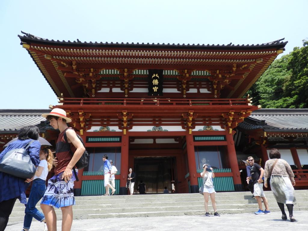 1828年に再建された鶴岡八幡宮の本宮