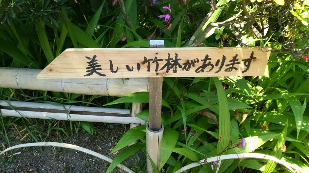 竹林への案内