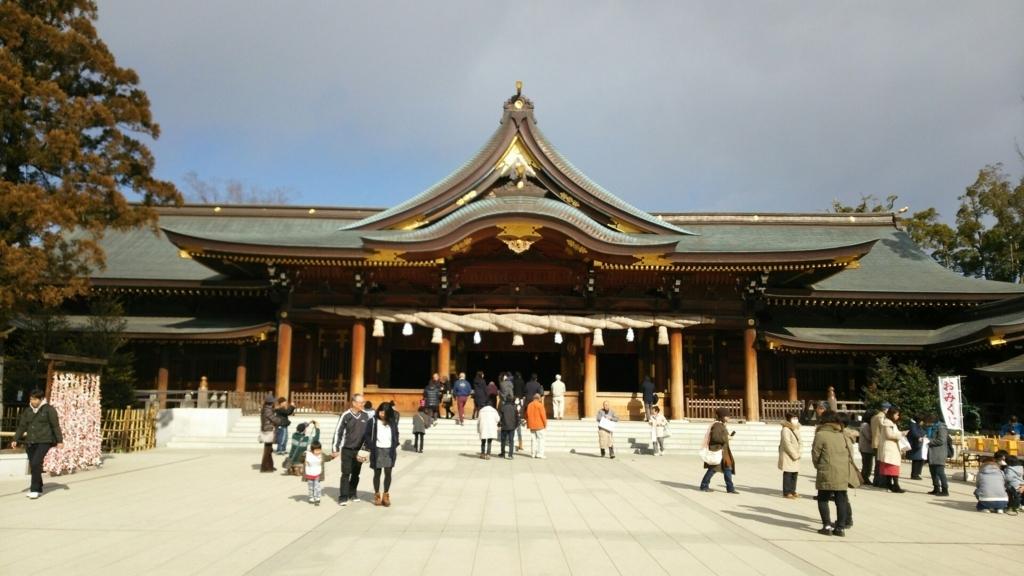 寒川神社の誠に堂々たる本殿