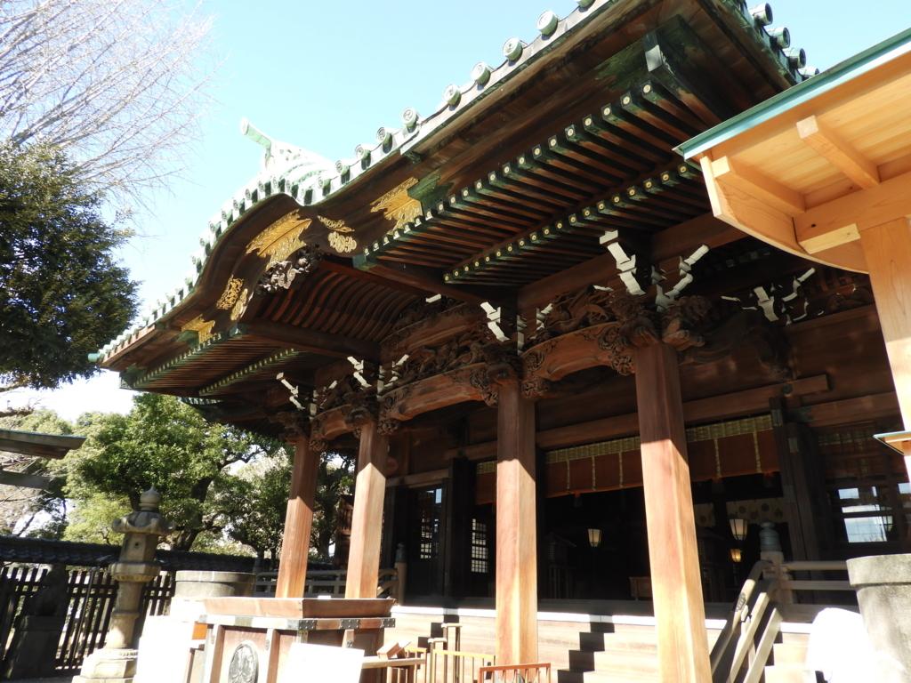 牛嶋神社拝殿の彫刻