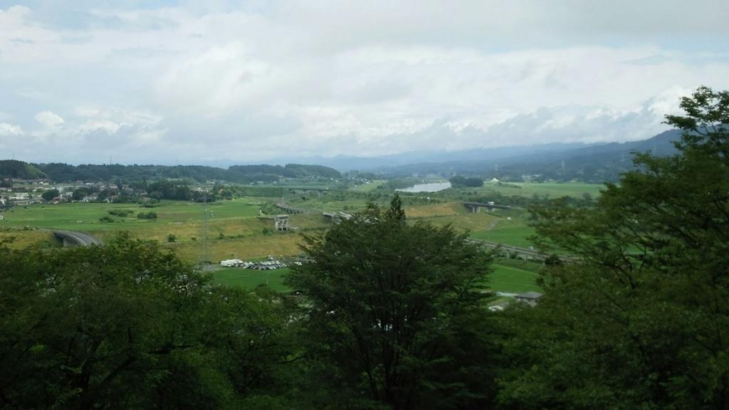 中尊寺の東物見台からの眺望