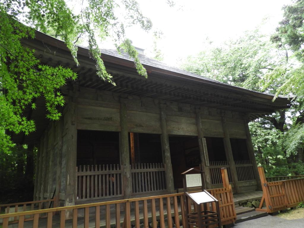 約500年、金色堂を風雨から守り続けてきた重要文化財の中尊寺旧覆堂