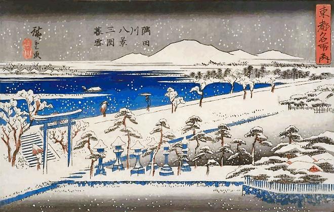 安藤広重の「隅田川八景」