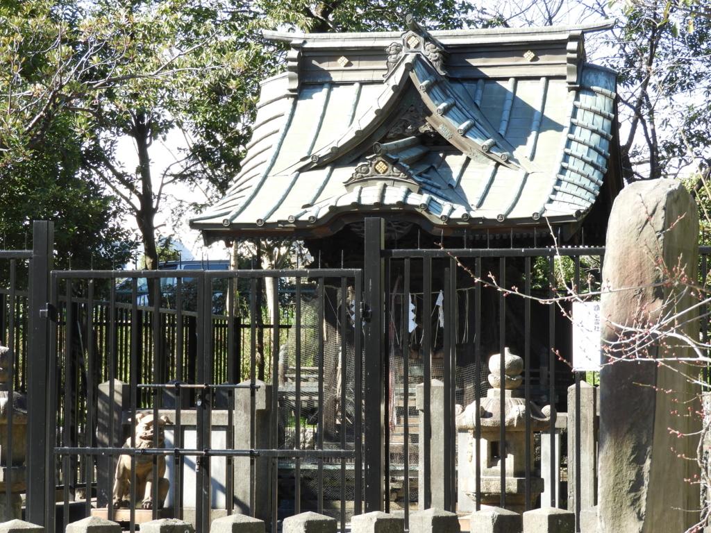 三囲神社の境内社である顕名神社