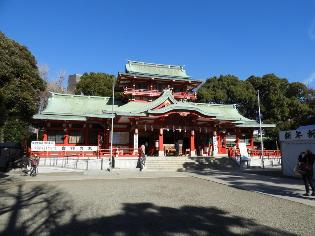鉄筋コンクリート造の富岡八幡宮の拝殿
