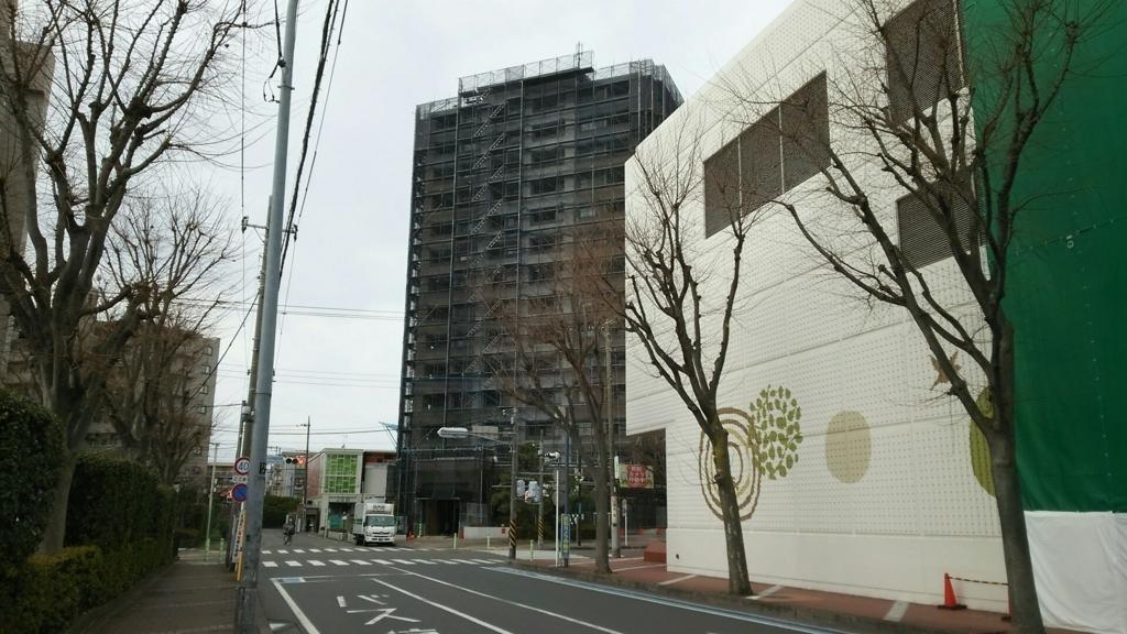 大規模修繕工事実施中のマンション