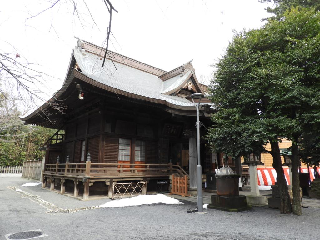 1831年に建てられた御嶽神社の社殿