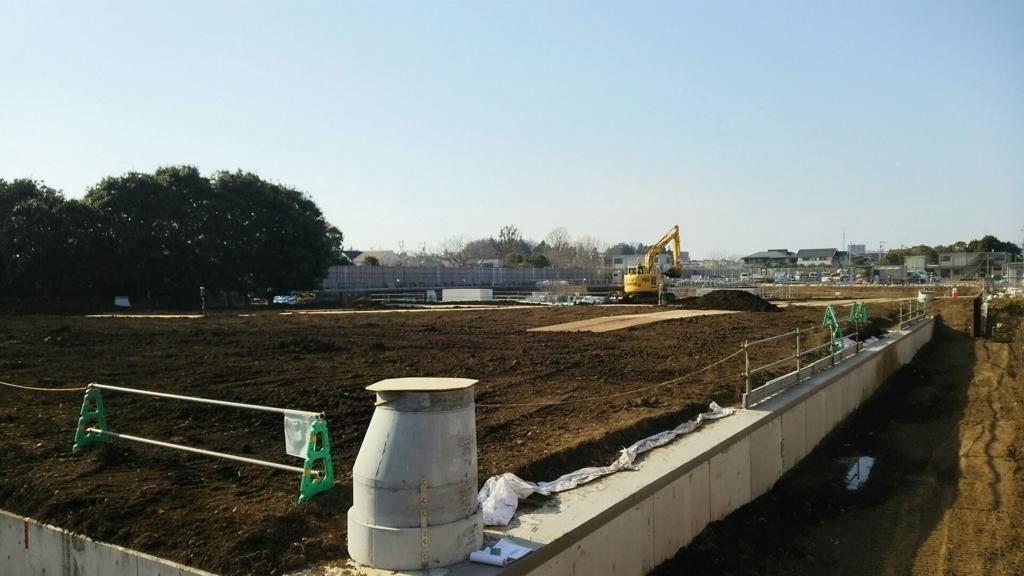 工事が終了したグランベリーモールの調整池