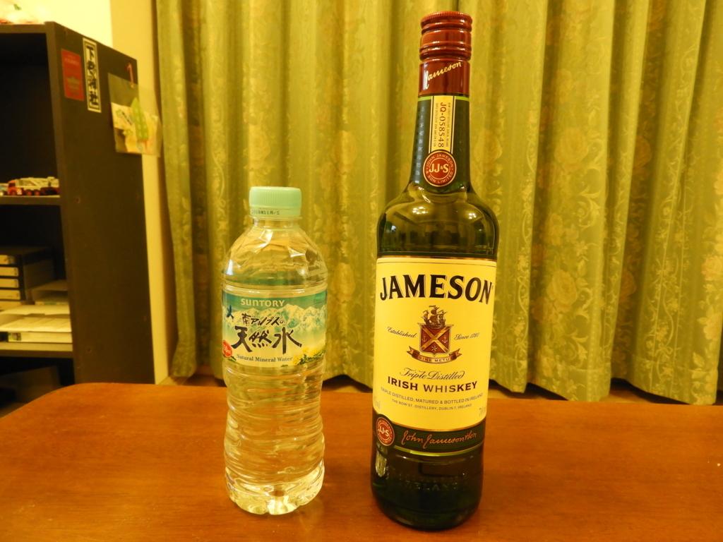ジェムソンと南アルプスの天然水