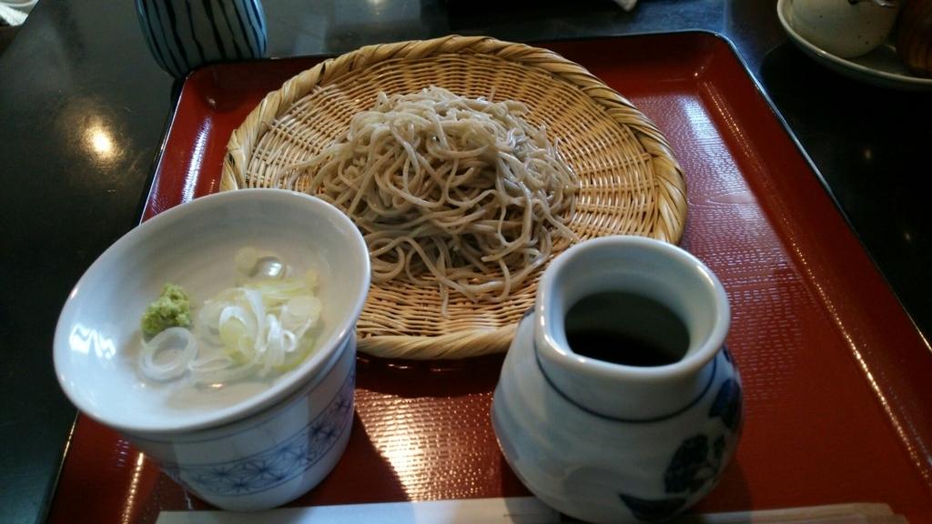 千花庵のざる蕎麦