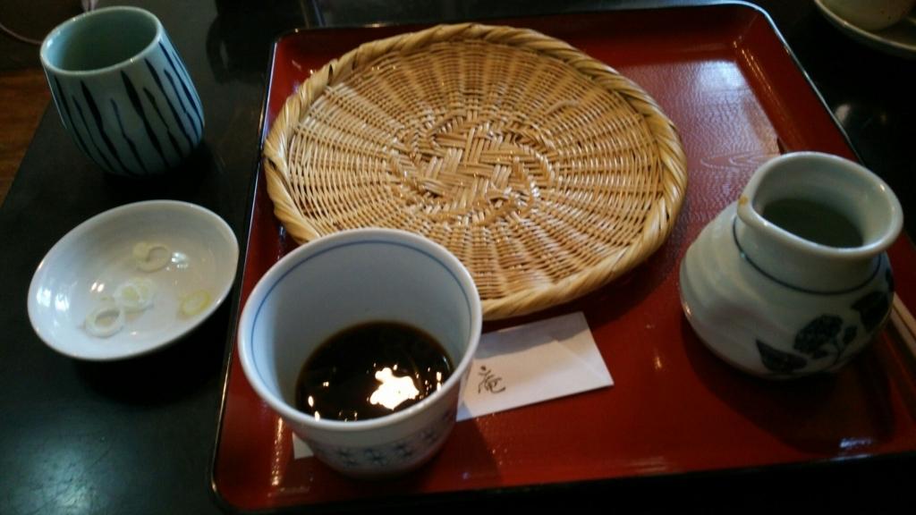 食べ終わった千花庵のざる蕎麦