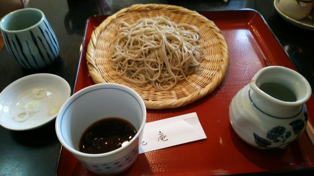 千花庵の追加ざる蕎麦