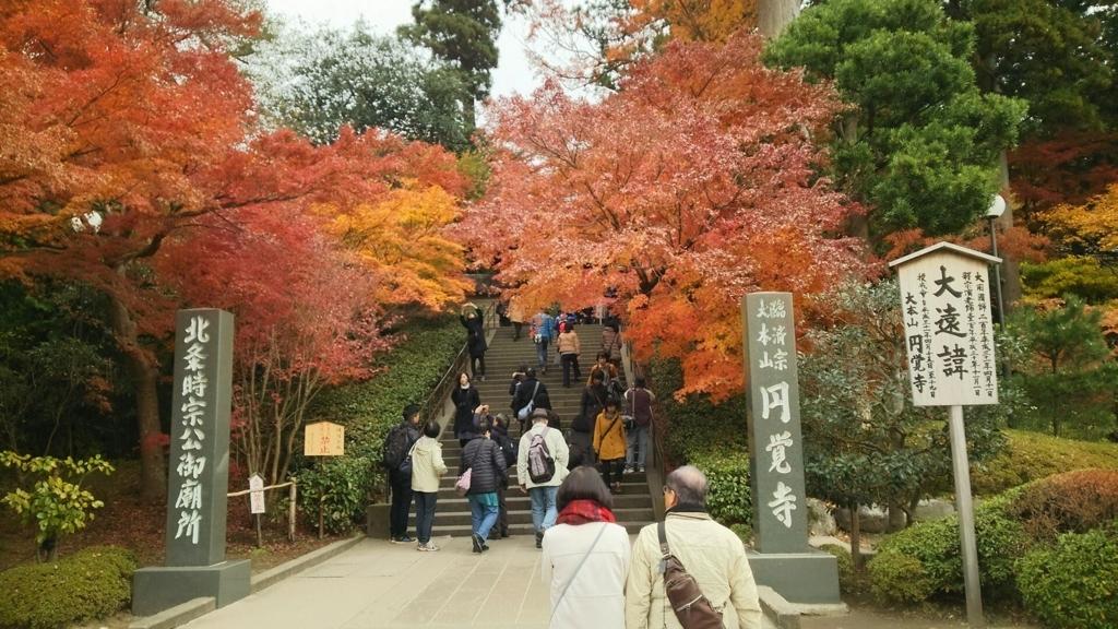 円覚寺総門付近の紅葉