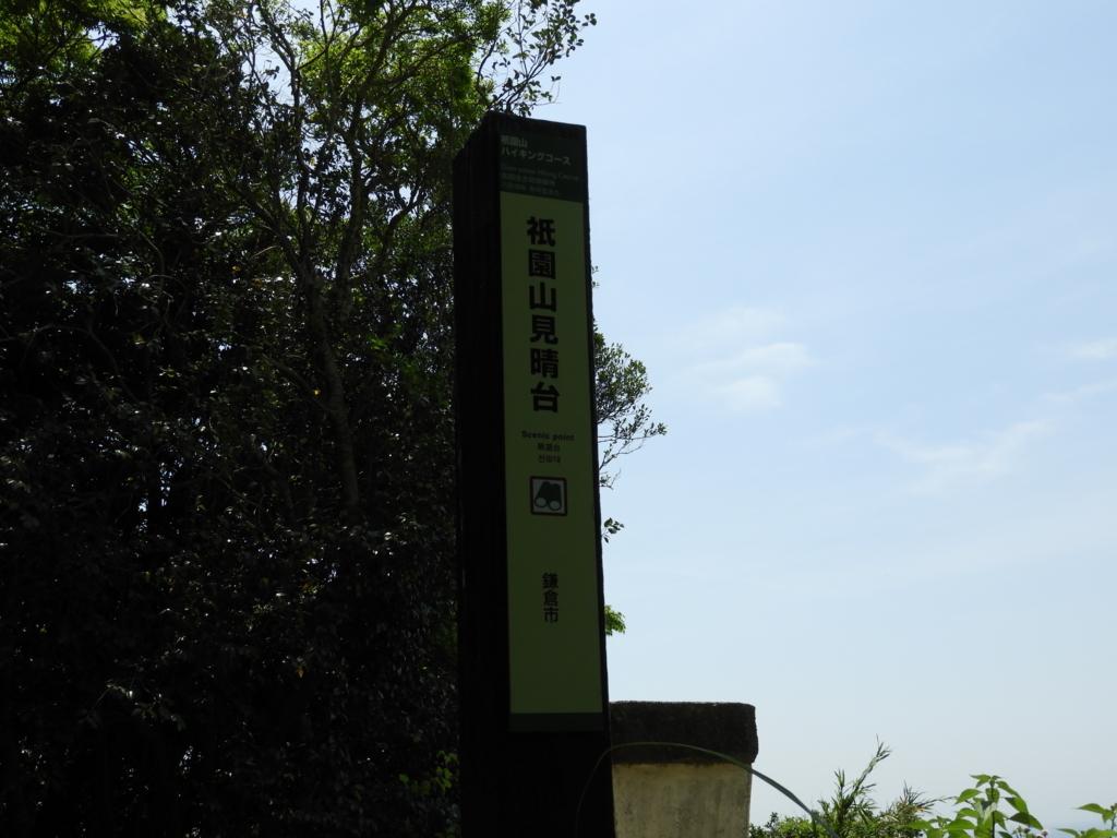見晴台の標識