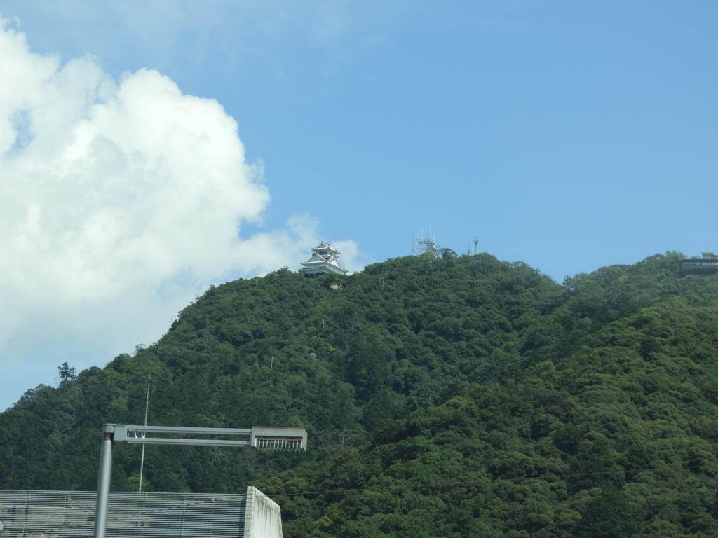 信号待ちの間に見えた岐阜城