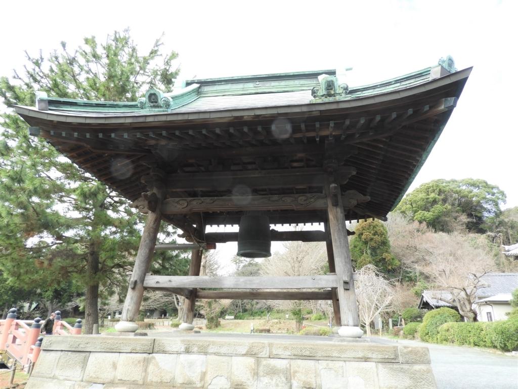 金沢八景の一つである称名寺の鐘楼