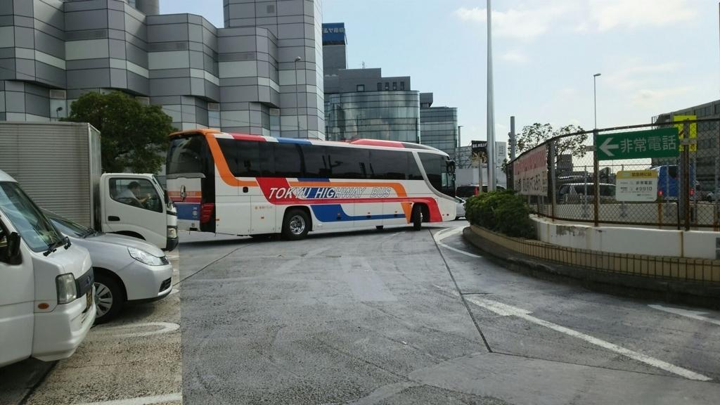 用賀PAのバス停を利用するバス