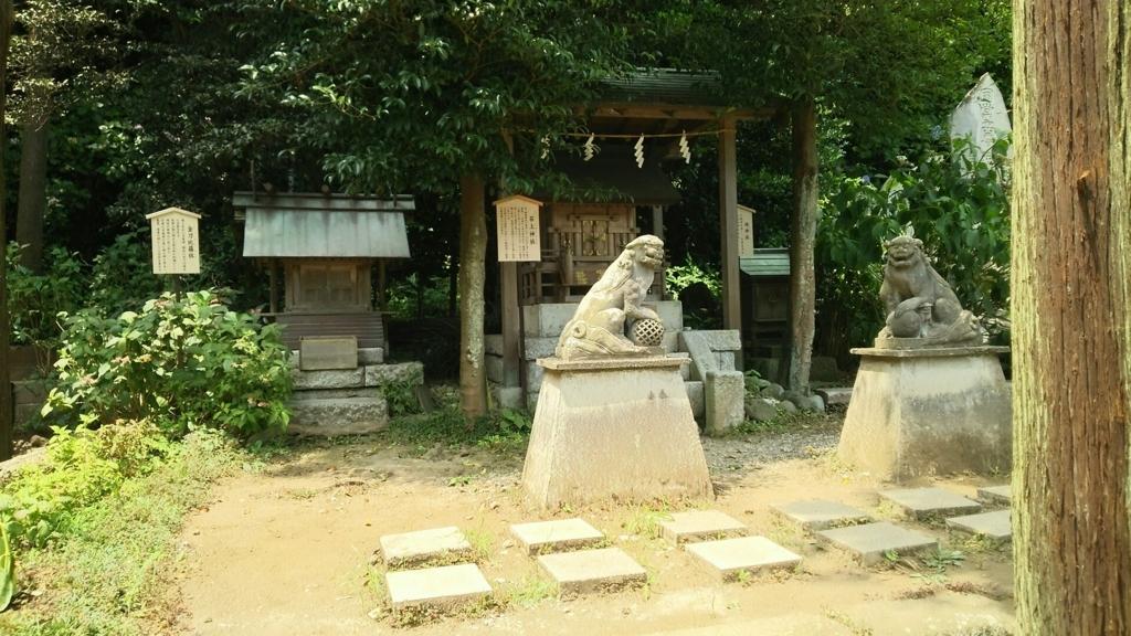 地神社と石上神社