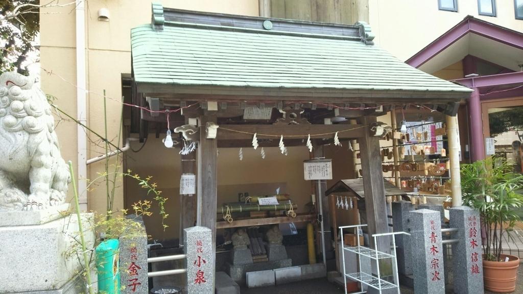 菊名神社の手水舎