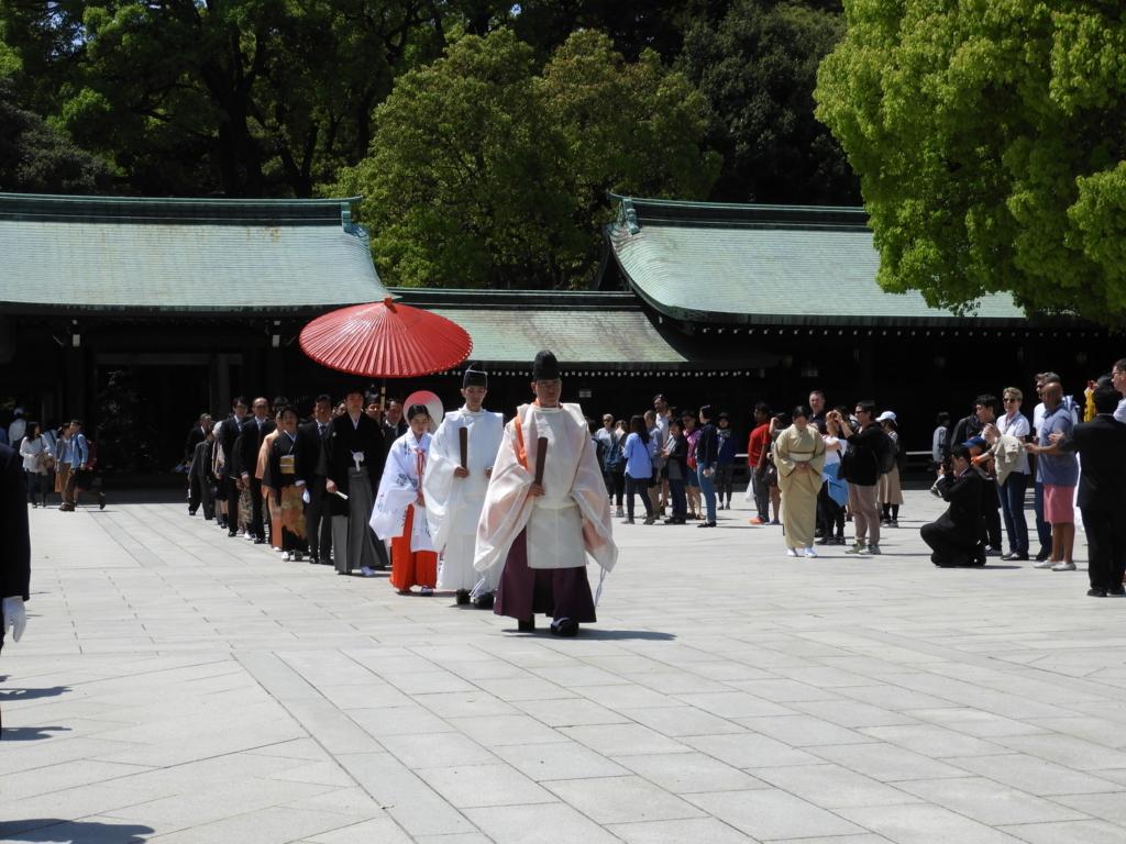 結婚式の行列