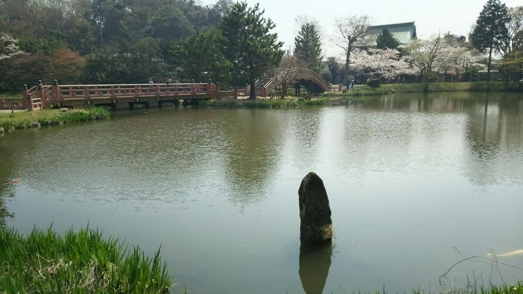毛越寺庭園に似た角度