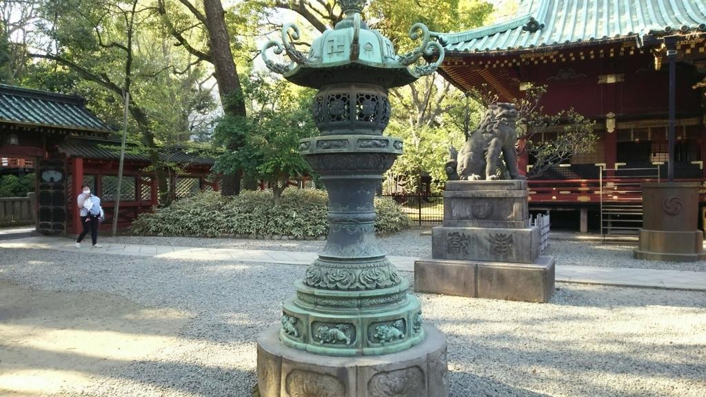 青銅灯篭(重要文化財)