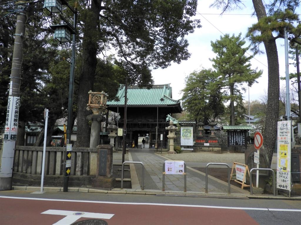 妙法寺の境内