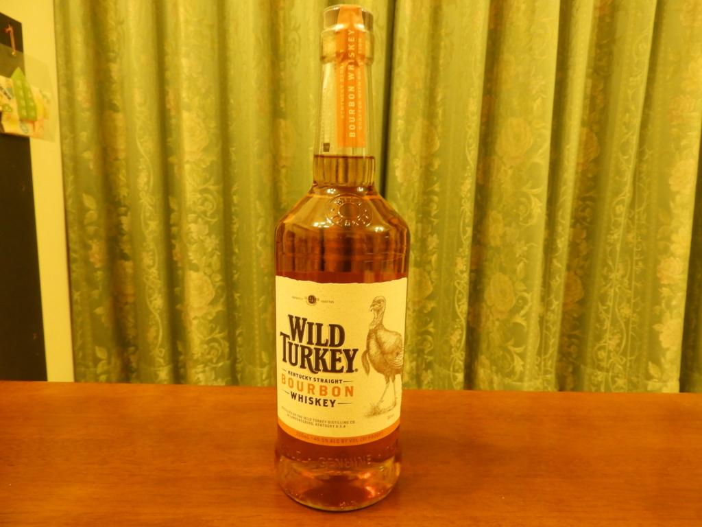 ワイルドターキーのボトル