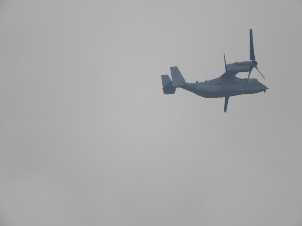 固定翼モードのオスプレイ